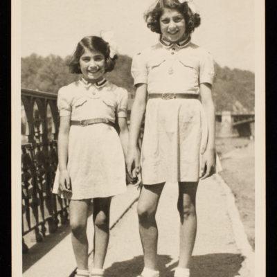 Photo of Gita (right) and Zuzana Hojtasova in Prague, 1945