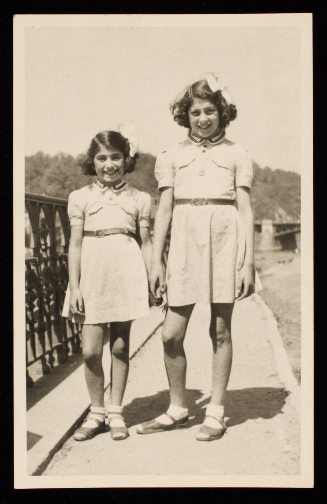 Photo of Gita (right) and Zuzana Hojtasova in Prague, 1945