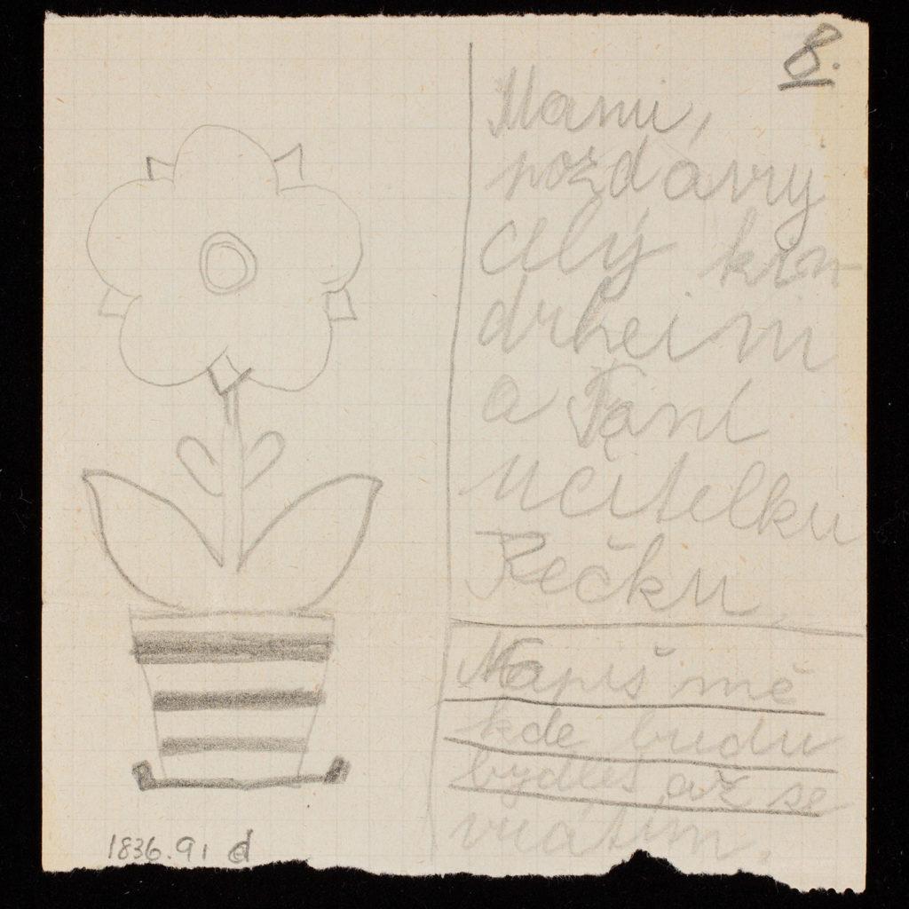 Letter from Gita Hojtasova to her mother, Gertrude Hojtasova.