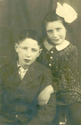 Inge Goldschmidt and her brother, Guenther, circa 1935.