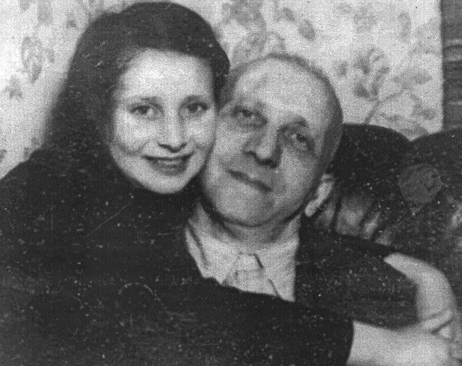Inge and her father, Rudolf Goldschmidt, circa 1937.