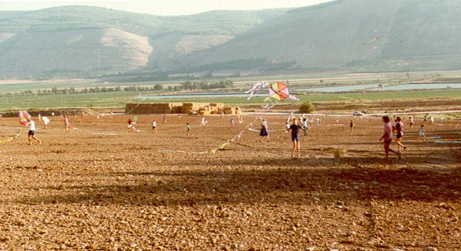 Kite flying competition at Kibbutz Ein Harod in memory of Janusz Korczak.