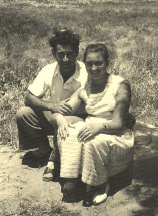 Esther and her husband, Avraham, in 1959.