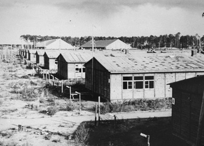 View of barracks in Stutthof.