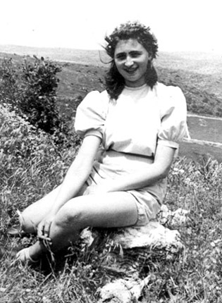Esther in the kibbutz fields.