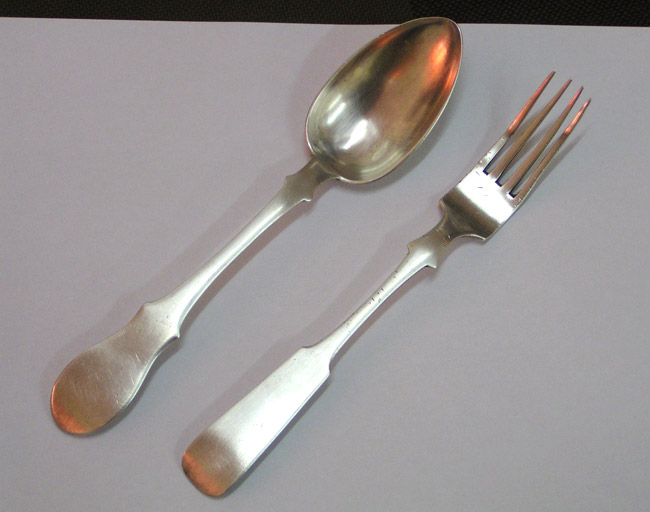 Silverware that Meir and his father hid underground with the remainder of their valuables in 1942. These items were recovered after the war.