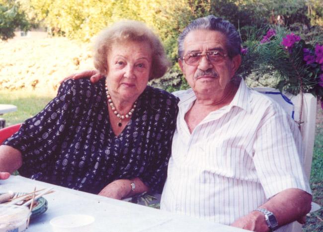 Meir and Chaika on the Kibbutz.