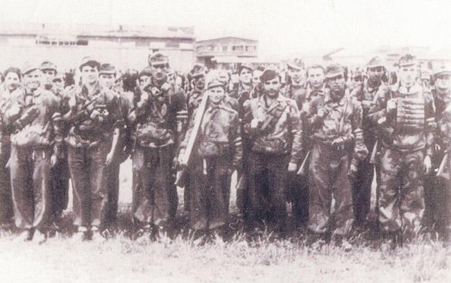 Marek (center) with his partisan unit.
