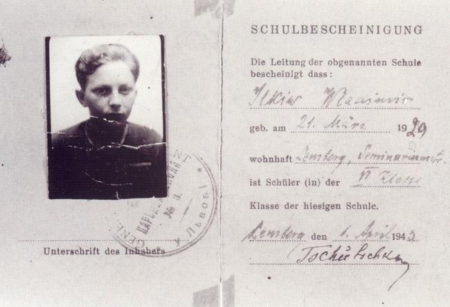 Marek's fake identity card.
