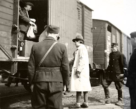Jews being deported from Slovakia, 1942.