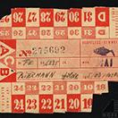 Terezin food ration card for Hilde Biermann for May
